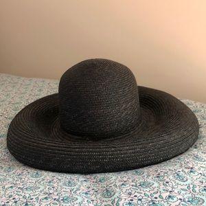 Vintage German Black Straw Hat